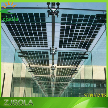Zjsola Bipv Solar Panel Double Glass Transparent Panel