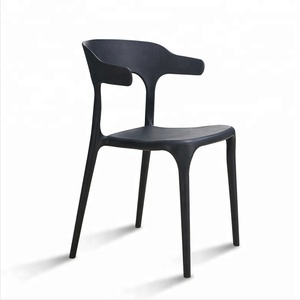 Simple fashion stackable national armchair dining chair plastic chairs