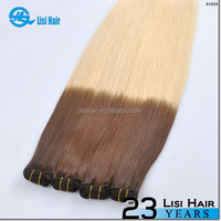 New Beauty Golden Supplier Top Quality No Shedding No Tangle Thick Ends Remy brazilian burgundy two tone ombre hair weaving