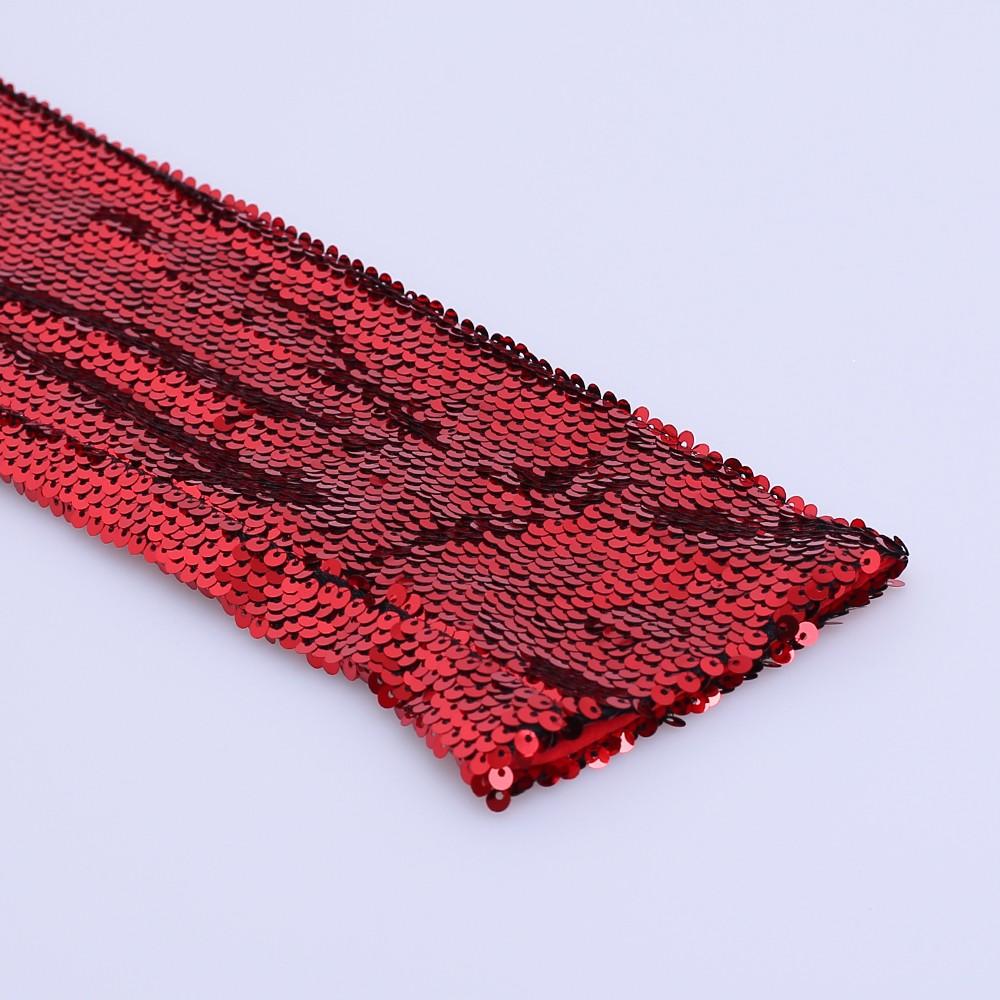 2018 โปรโมชั่นสีแดงเลื่อมเลื่อมต่ำตัดเซ็กซี่เงือกแม็กซิชุดเดรสแขนยาว
