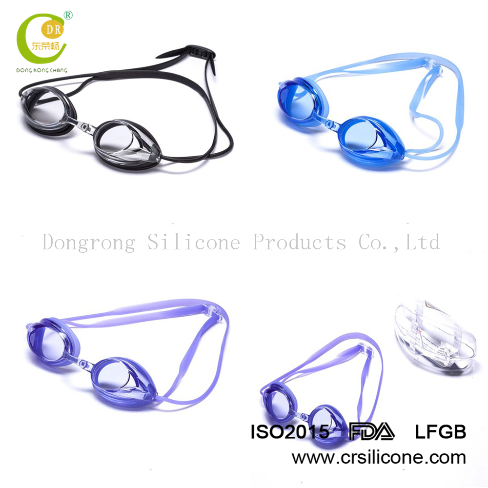 Professional swimming silicone goggles/glasses for racing and diving