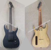 Weifang rebon 8 string Electric Guitar with ashwood body and string through body bridge