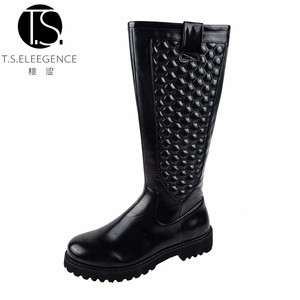 ladies horse riding football stitching boots women rubber heel boots