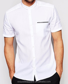 cd8a06887775 2016 wholesale white party wear shirt for men short sleeves summer pure  cotton men white shirt