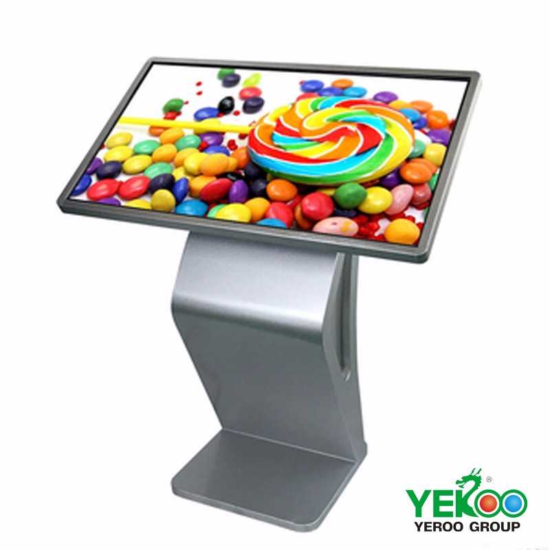 Indoor standalone lcd display touchscreen computer kiosk desk