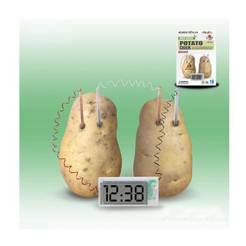 how long can a potato power a clock