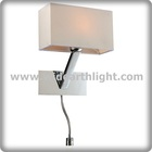 Modern Led Up and Down Wall Lamp UL CUL Listed Chrome Modern Design Bedside Wall Lamp Hotel Led Reading Light W81157