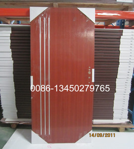 six panel steel door, MDF/HDF door are made in China