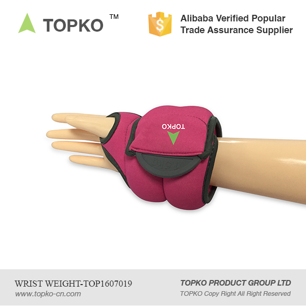 TOPKO Wholesale Adjustable Gym Fitness Sands bag Ankle Wrist Weights