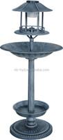Stand bird bath with solar light
