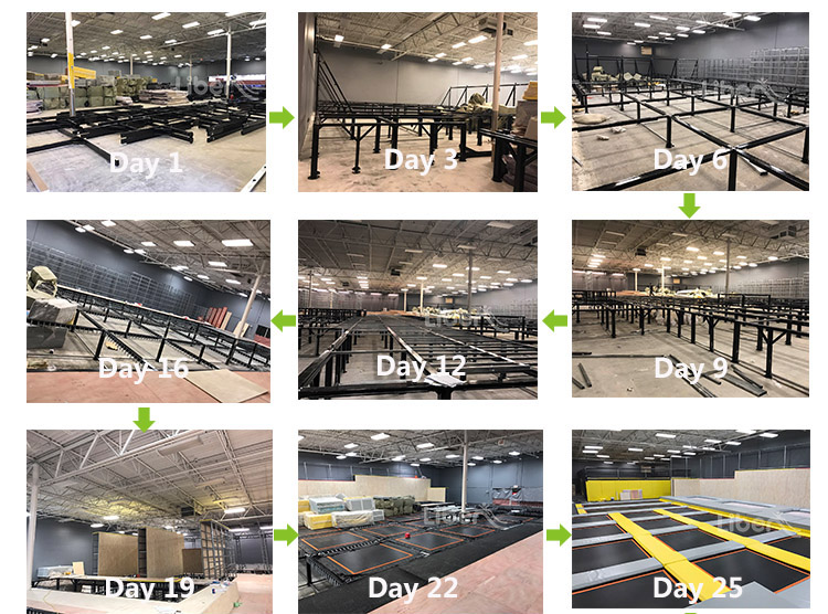 1500 Sqm Customized design large indoor commercial trampoline park in Sudan