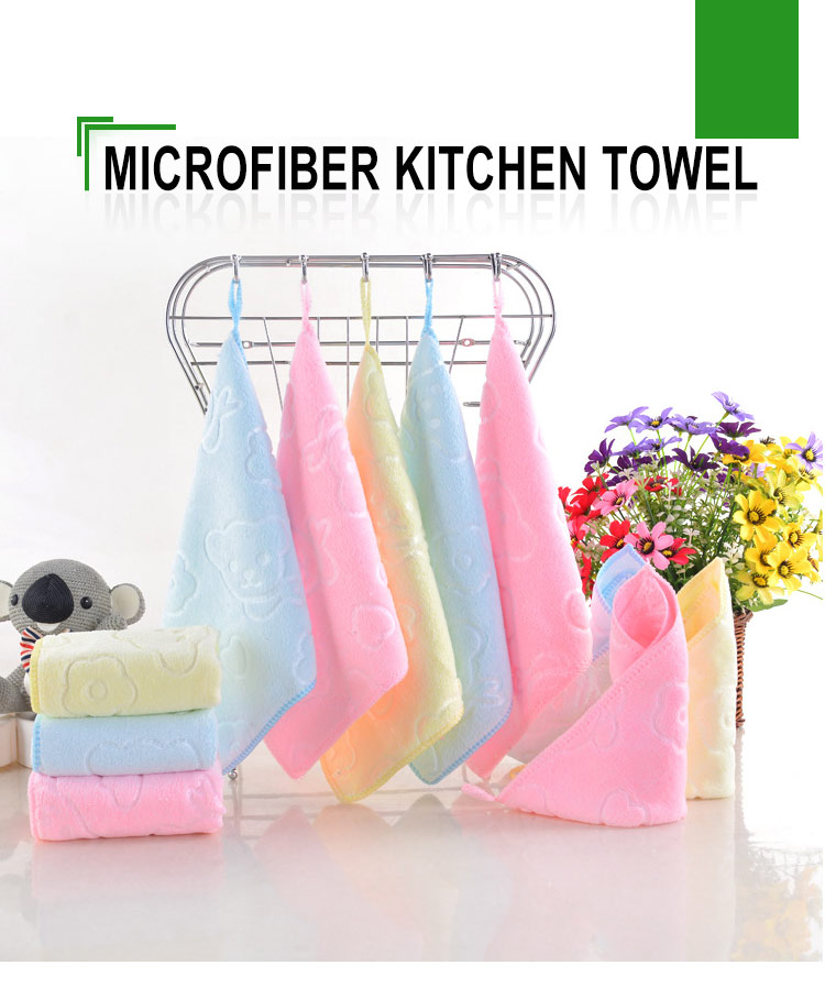 good price absorbent custom cartoon microfiber kitchen towel