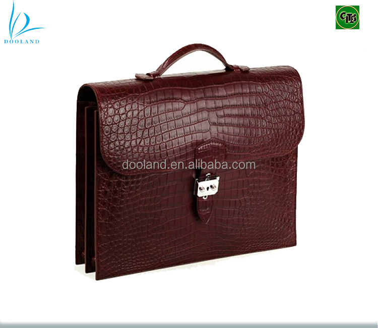 48ae88a912 Luxury handmade designer real exotic genuine crocodile leather men  briefcase business bag