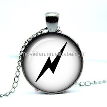 Lightning Bolt Symbol Deathly Hallows Hp Always Pendant Glass Photo