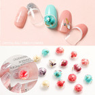 Japanese style 6 designs beautiful 3d crystal ball dried flower DIY Nail art decoration for nail beauty
