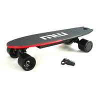 Dropshipping 250w wireless smart customize hub motor lithium battery powered small cheap mini electric skateboard diy