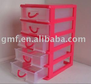 5 unit plastic drawer organizers
