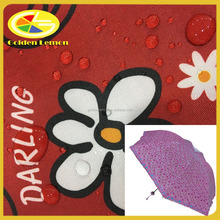 150D polyester oxford fabric with PU/PA coated printing, water repellent, suitable for tent, awning and umbrella