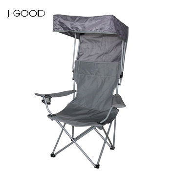 Awe Inspiring Portable Camping Chair Folding With Adjustable Shade Canopy Foldable Fishing Chair For Camping And Picnic Buy Folding Beach Chair With Shade Machost Co Dining Chair Design Ideas Machostcouk