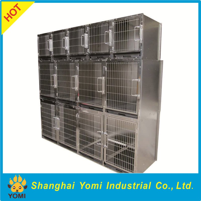 Modular stainless steel dog cage YM-JY-001B