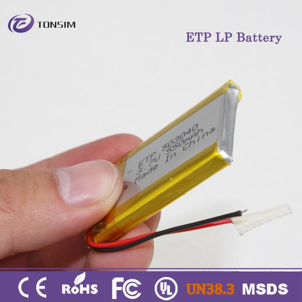 Lithium Ion Battery 3.7v 550mah Lithium Polymer Battery 3cells Li ...