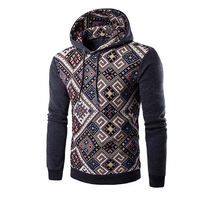 Mens Fashion Ethnic Stitching Hoodies Pullover Sweater Sweatshirt Tops Sweat Suits Men Hoody Mens Hoodies