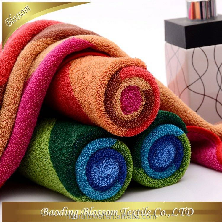 custom made cotton velour terry good quality 100% cotton Colorful, Soft, and Absorbent Mocha bath towel