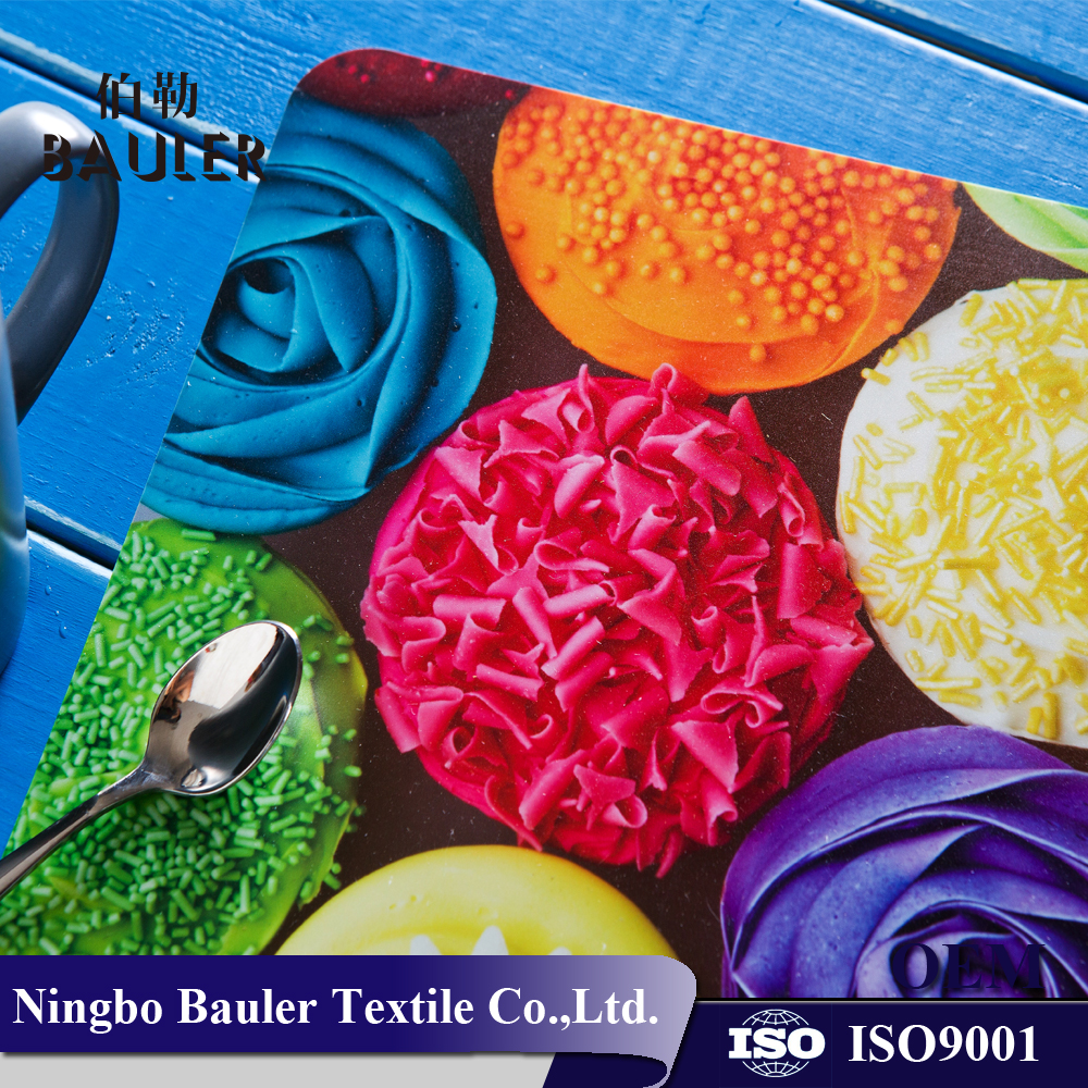 Food grade plastic material stocked printing PP Modern Placemat