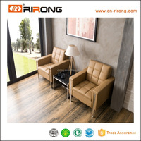 8035 Foshan Rirong manufacturer luxury leather upholstered office design sofa