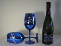 gold/pink/blue plated glass/Moet & Chandon champagne goblet glass