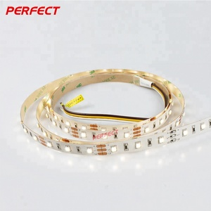 project use super bright 60led 12V 9.6w dimmable led strip light 3000K+6000K CCT