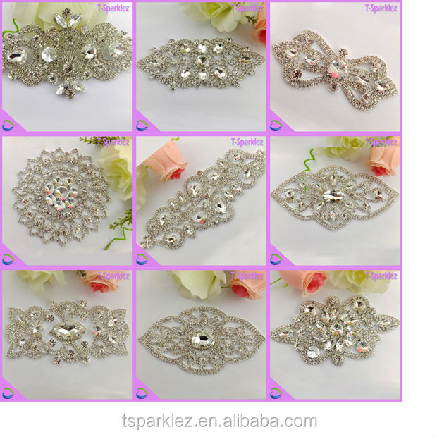 Wedding dress sewing metal rhinestone crystal for Wedding dress sewing supplies