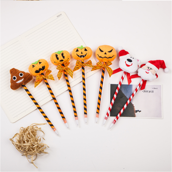 Creative festival plastic halloween christmas pen for children gift