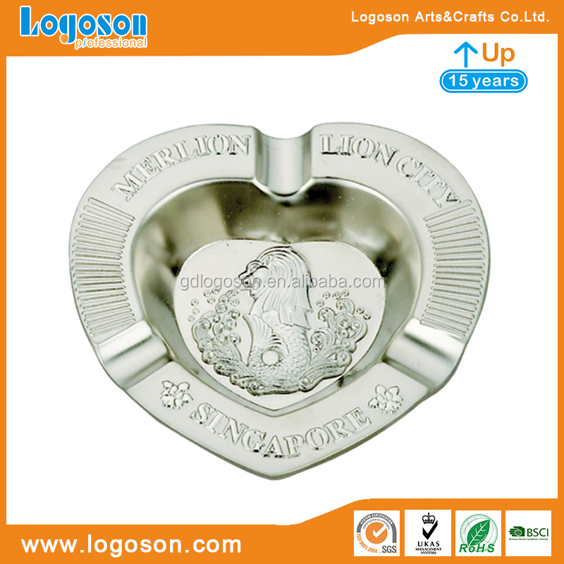 15+ Years Factory Lion City Singapore Souvenirs Merlion Custom Ashtray Wholesale Cigar Ashtrays