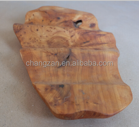2015 New Handly Carved Wooden Fruit Bowl With Chinese Fir Root