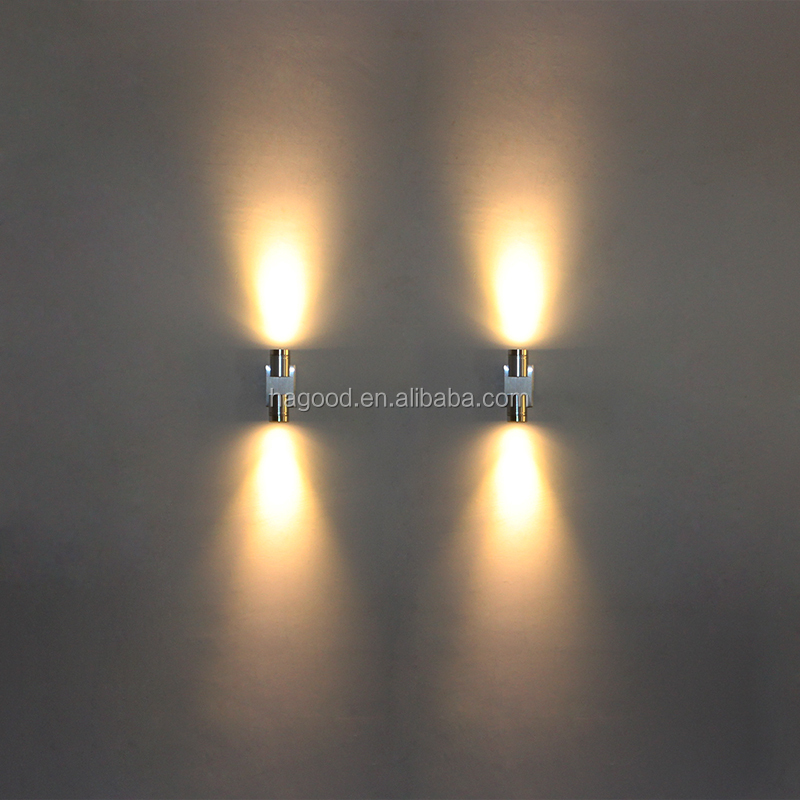 2x1W AC85-265V Aluminum Modern LED Wall Lights Wall Lamp Sconce Mirror Light for Indoor Wall Decoration or Lighting