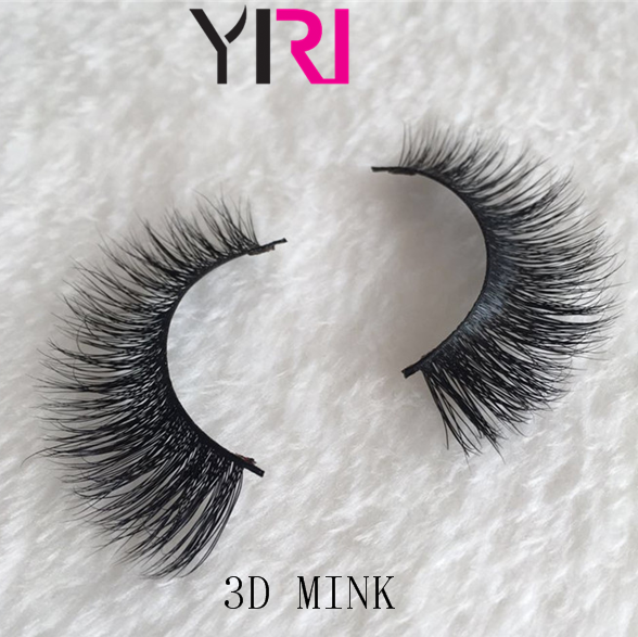 2018 new design arrival luxury mink 3d mink eyelashes private label clear band mink false eye lashes