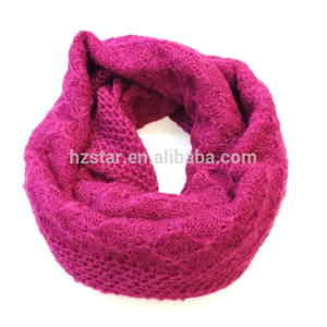 HZW-13849006 new design comfortable neck warmer rose red long soft scarf