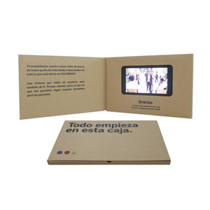 design 4.3 inch 256M A4 business greeting gift name wedding LCD screen video player brochure in print a paper card price