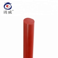 Customizable red hard silicone rods and rubber stick