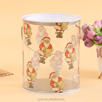 christmas tin box, cardboard cylinder packaging box, tin plastic