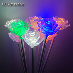 Toprex Decor Led lighted acrylic rose flower stand for weddings party
