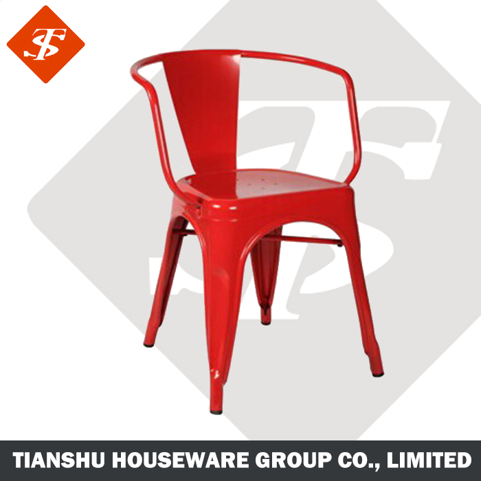 2018 New Product Colorful Metal Frame Stackable Chair with Arms/ Bar Chair (TS-1002-4)