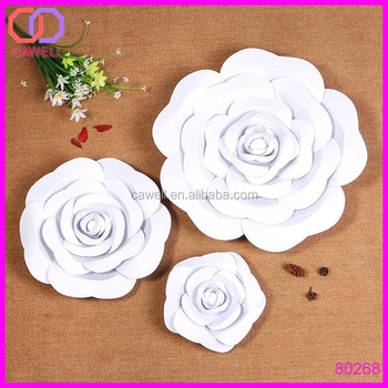 Wholesale Backdrop Large Rose Giant Paper Flower For Wedding Wall
