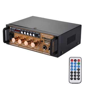 AK-698E HiFi Stereo Audio Power Amplifier 180W + 180W Digital Player with Remote Control, Support FM / SD / MP3 Player / USB