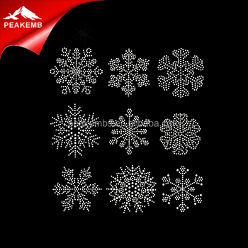 Wholesale korean hotfix rhinestones christmas snowflake design rhinestones  for dresses 20478b74d59f