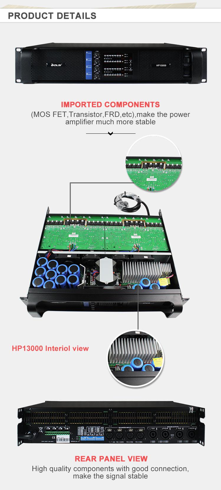 10000 Watt 4 Channel Kelas H High Power Amplifier