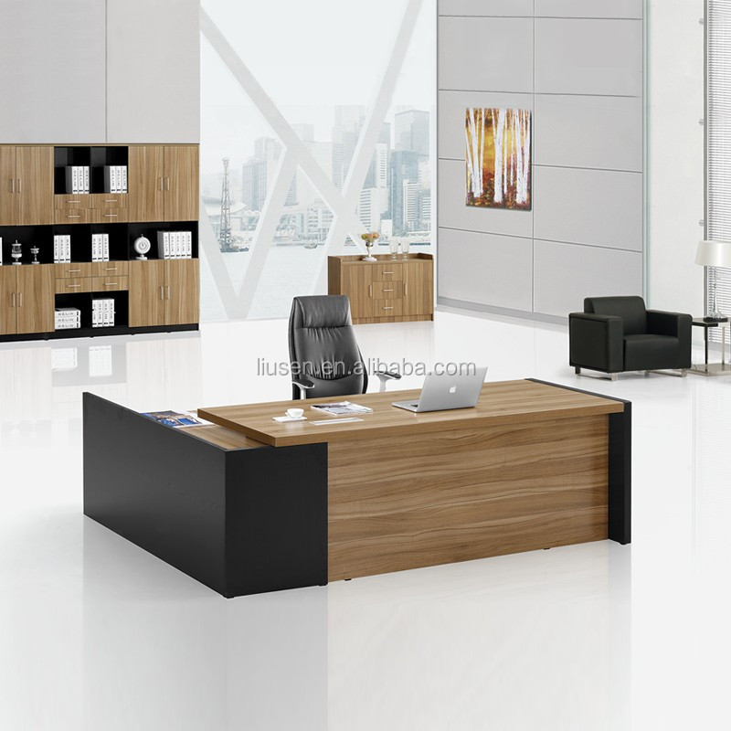 de luxe boss design mobilier de bureau en bois moderne l type standard taille bureau table buy. Black Bedroom Furniture Sets. Home Design Ideas