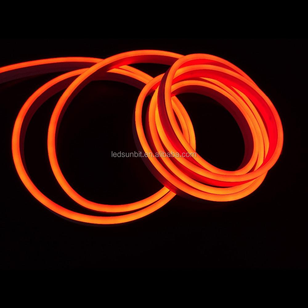 dc 12v 24v dimmable dmx pink orange led neon flex rope strip light buy pink led neon strip. Black Bedroom Furniture Sets. Home Design Ideas