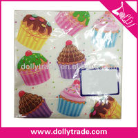 Fashion Thick Beautiful Cake Printed Paper Napkin For Weddings